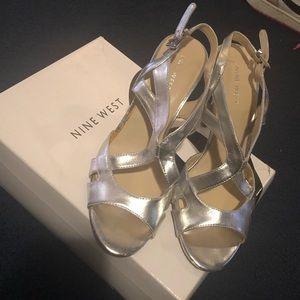 Nine West Women's Classy Silver Heels